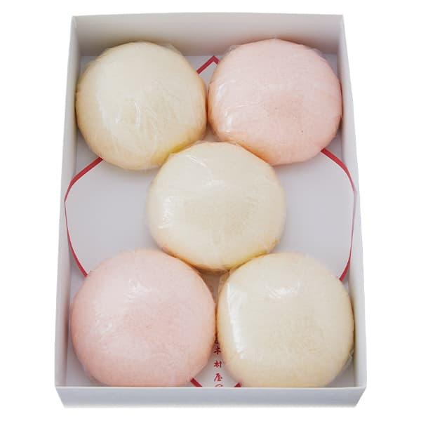 紅白饅頭5個入 【直径約9.0cm】